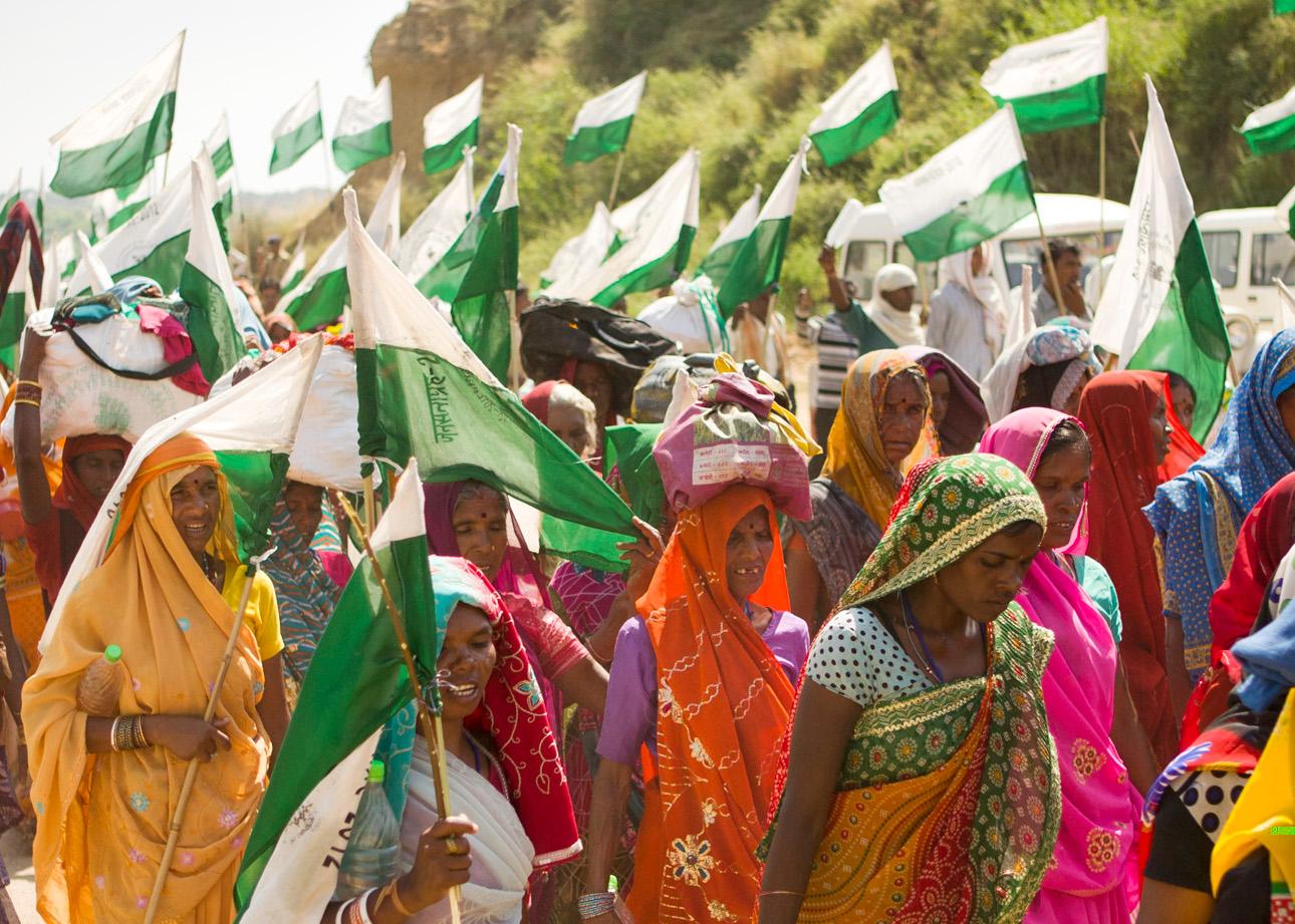 Lutte pour les terres : la victoire en marchant des paysans indiens - Oxfam  France