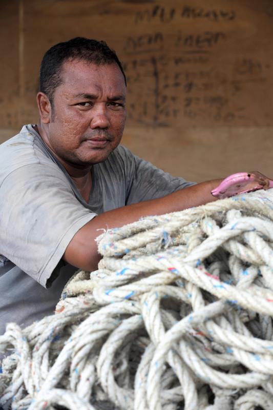 T Bukari, pêcheur de la petite communauté de Lhok Seudu, survivant du tsunami de 2004