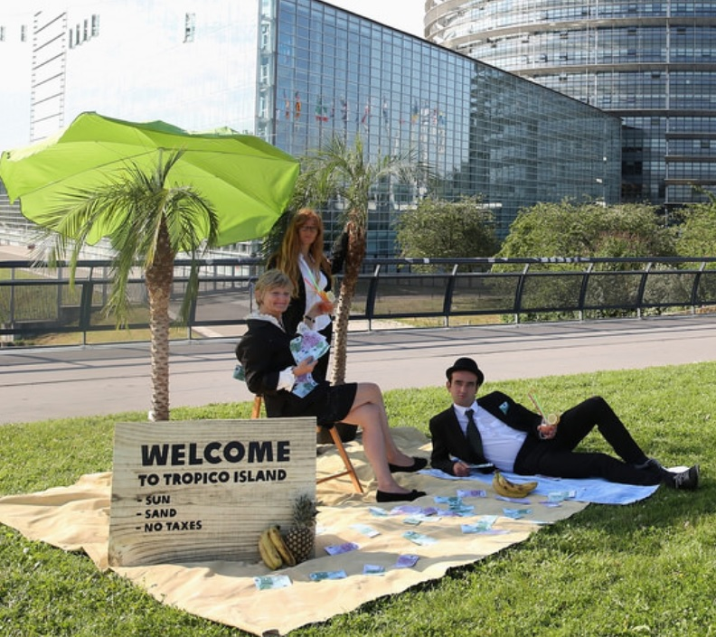Action face au parlement européen