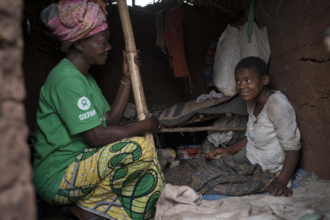 Thérèse, chargée de promotion de l'hygiène avec Oxfam, Kalunga, RDC