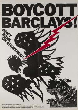 Affiche historique de la campagne d'Oxfam contre la Barclays