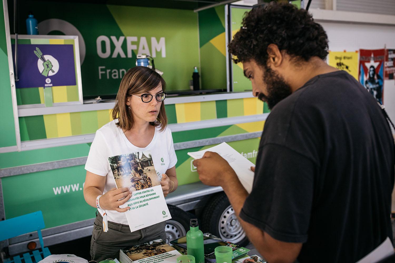 Stand Oxfam France à l'Alter G7 en août 2019