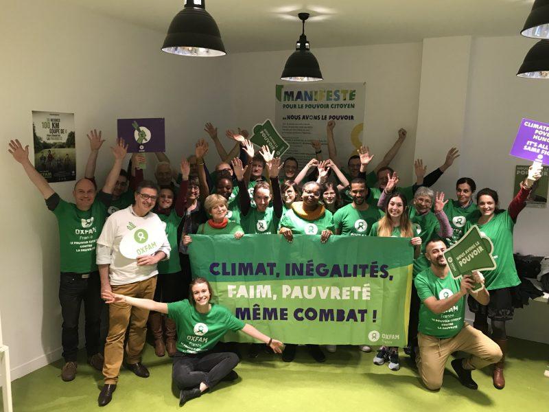 Une partie des bénévoles des groupes locaux d'Oxfam avait fait le déplacement pour participer au Week-end de formation, les 29 février et 1er mars 2020. Crédit : Oxfam